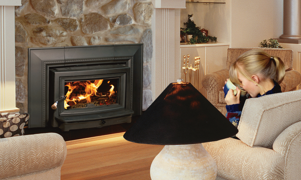 The HearthStone Clydesdale 8491 wood insert is available at Ferguson's Fireplace & Stove Center.