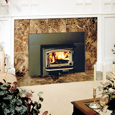The Lopi Answer wood insert is available at Ferguson's Fireplace & Stove Center.