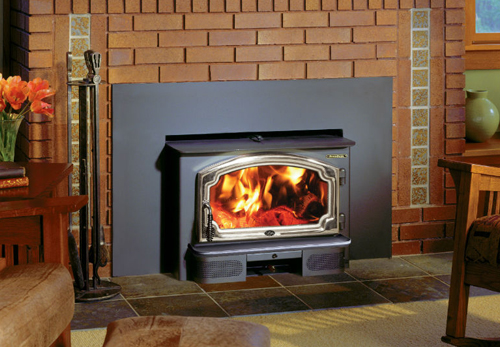 The Lopi Freedom wood insert is available at Ferguson's Fireplace & Stove Center.