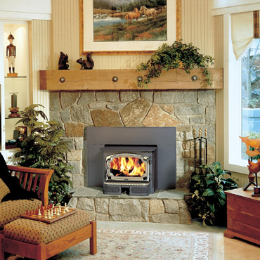 The Lopi Revere wood insert is available at Ferguson's Fireplace & Stove Center.