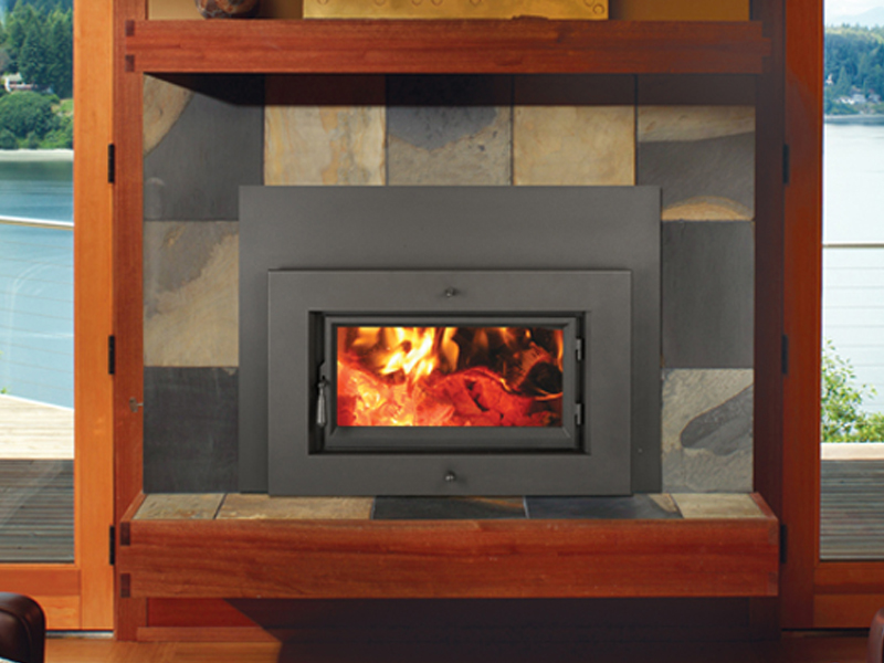 The Fireplace Xtrordinair 33 Elite Flush Wood Plus Rectangular wood insert is available at Ferguson's Fireplace & Stove Center.
