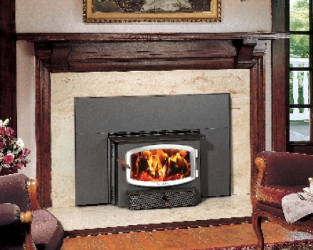 The Avalon Olympic Wood Insert is available at Ferguson's Fireplace & Stove Center.
