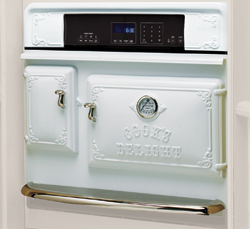 Antique Wall Oven in White