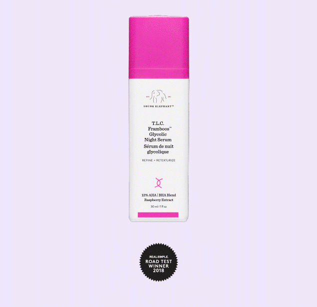 T.L.C. Framboos Glycolic Night Serum Drunk Elephant