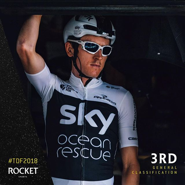 After taking 2nd on the team time trial stage @geraintthomas86 moves up into 3rd overall in the Tour de France 🇫🇷 #RocketSports #tdf2018