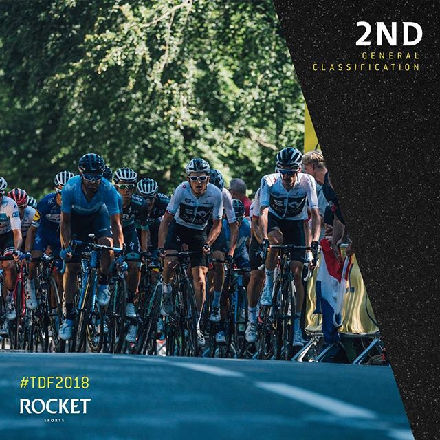 @geraintthomas86 steals 2 seconds to move up to 2nd overall at @letourdefrance #RocketSports #tdf2018 . . . 📷 Russ Ellis