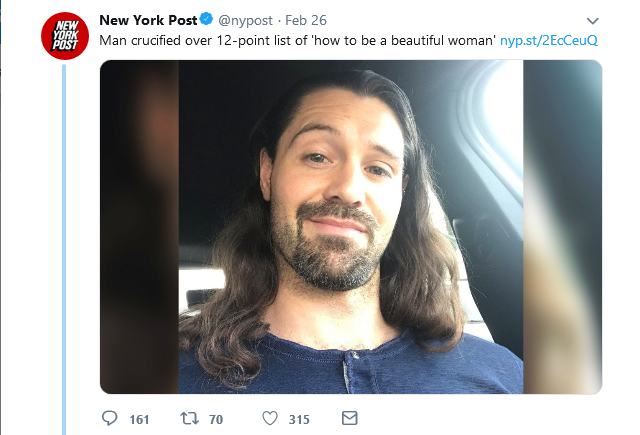 The media plays into the hands of media manipulator, AJA Cortes. This shit is next level.  And behold, the tweet that started it all:  How to Be a Beautiful Woman