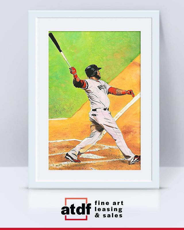 That Big Papi SWING! 😲 ⠀ Shop the 17 x 22 in. Giclée signed by #artist James Fiorentino (@fiorentinojames) through the #linkinbio⠀