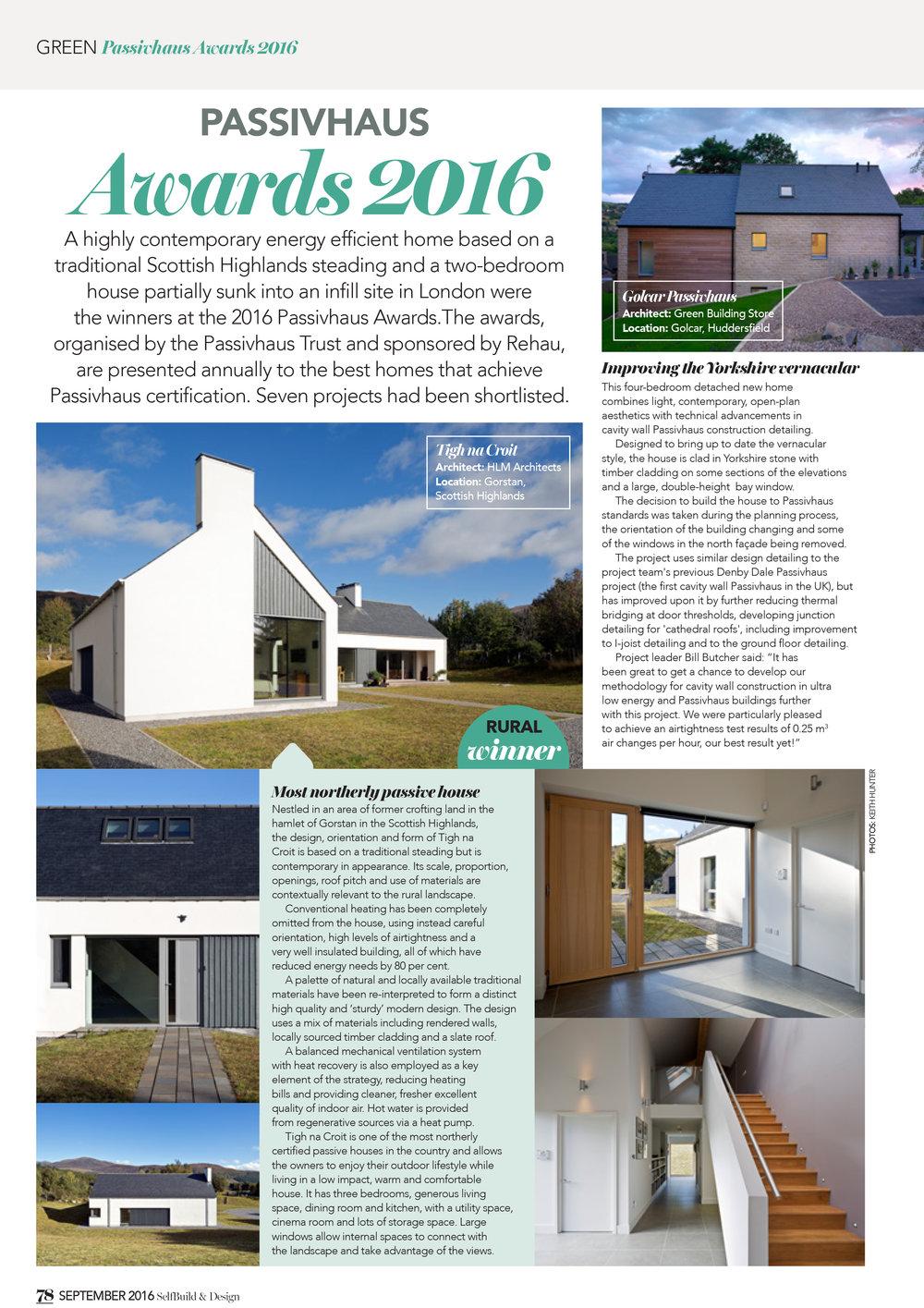 Self Build Design Magazine, 2016