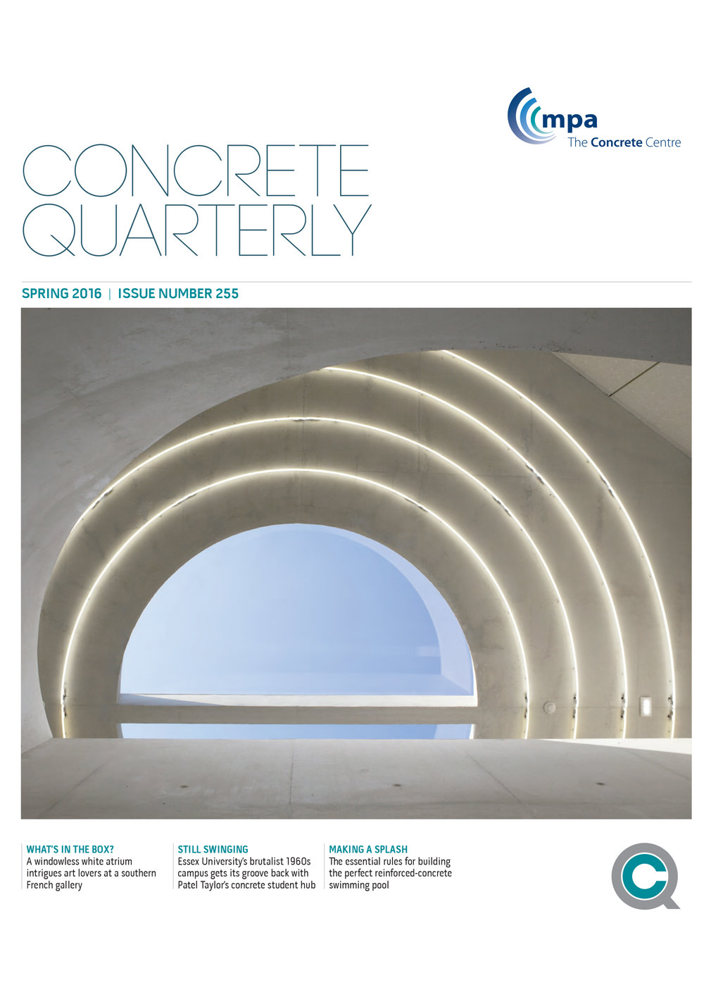 Concrete Quarterly, 2016