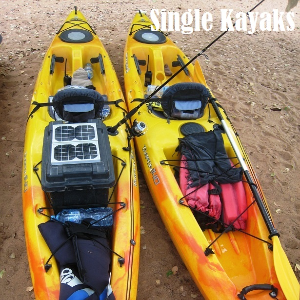 Lake Shore Lodge Tz - Lake Tanganyika - Kayak Expeditions - Single kayaks.JPG