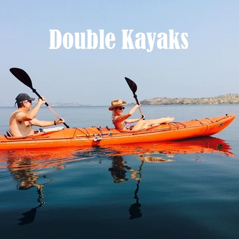Lake Shore Lodge Tz - Lake Tanganyika - Kayak Expeditions - Double kayaks.jpg
