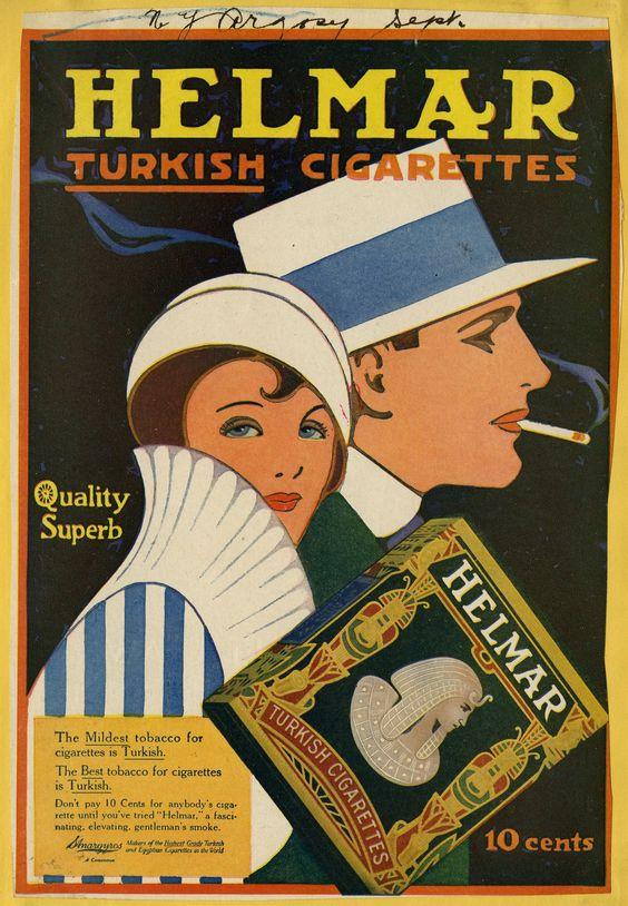 Cigaretreklame fra 1920'erne.