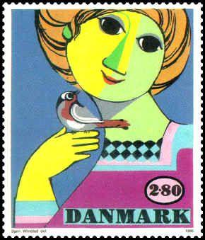 Frimærke designet af Wiinblad