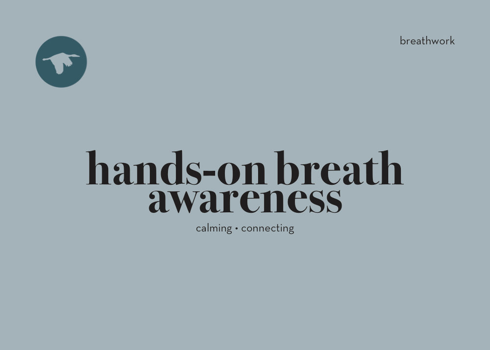 Hands-on breath awareness