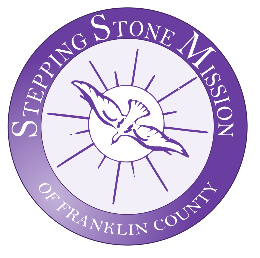 STEPPING STONES MISSION   Our goal is to work toward eliminating hunger in the Franklin County community by providing free food to our patrons that have become victims of unfortunate circumstances and cannot meet their own basic needs.