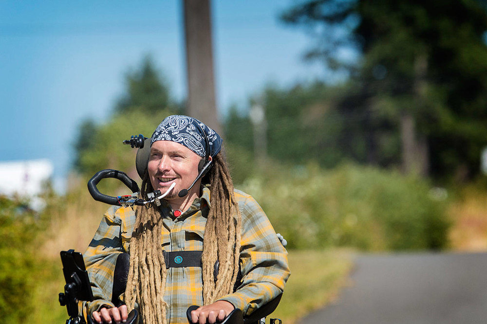 Agnew man plans hot, steep ride in a wheelchair  - An Agnew man who gained international attention when he rode his wheelchair from Port Angeles to Portland, Ore., in 2016 is preparing for a 13-day journey that will take him through the heat of Eastern Washington and across the North Cascades.
