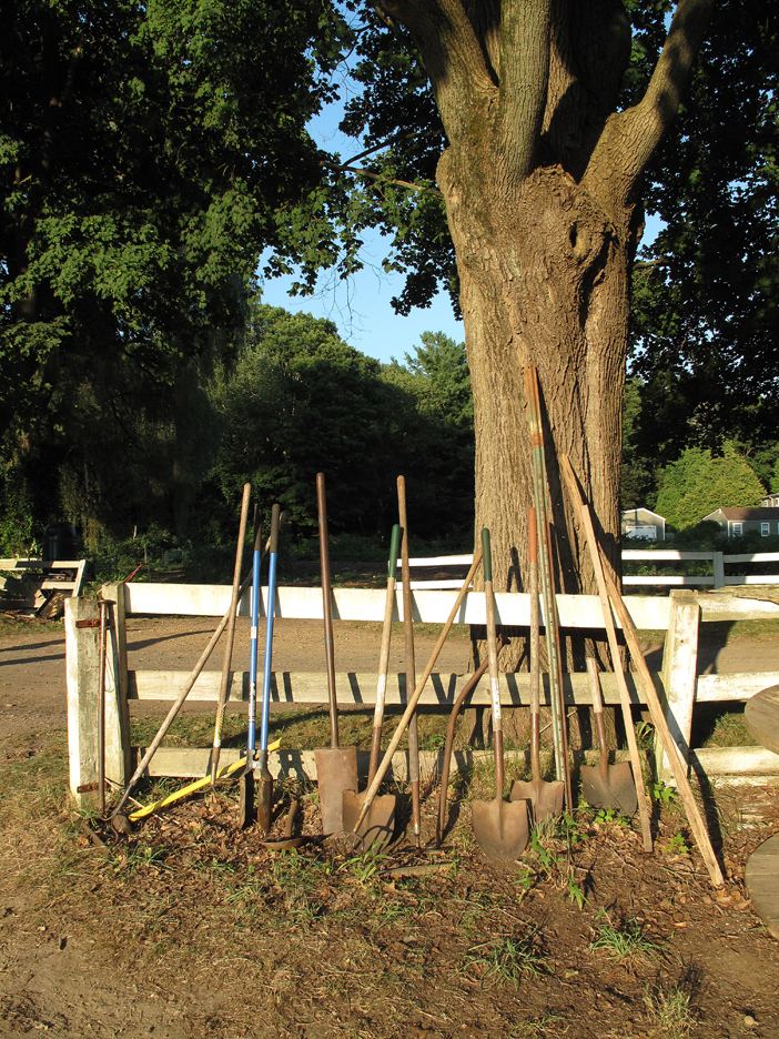 Garden tools at 6:00pm