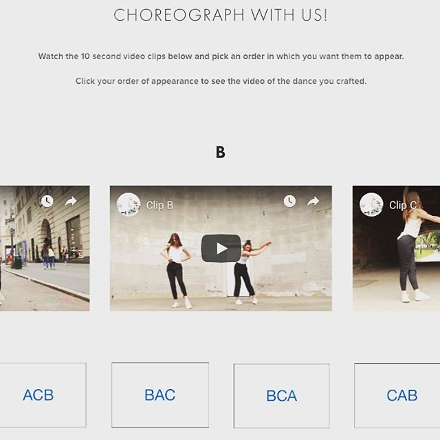 While we wait for our co-creative collective dance to be filmed and edited, you can have a fun dance crafting/editing exercise https://www.dancingcards.com . Scroll down for the part shown on the photo and pick the order of appearance for the dance clips A, B, and C. We will publish statistics on this task next month.  #dance #dancetask #choreography #dancingcards #onlinecreation #dancevideo #coding #editing #creativemovement #CentralPark #NYC #dancers #danceimprov videographer @littleleihgeber dancers: @lilaronoff @megparadowski