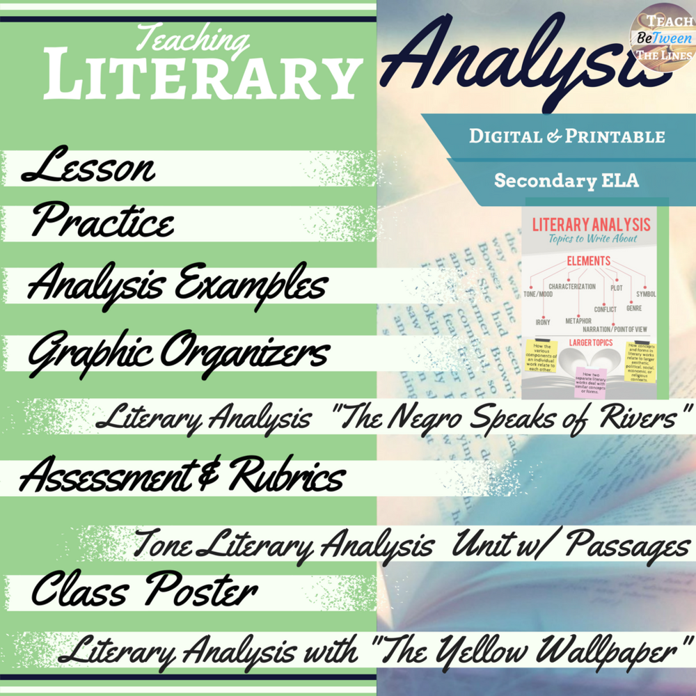 Click here for the literary analysis iSEE lesson!