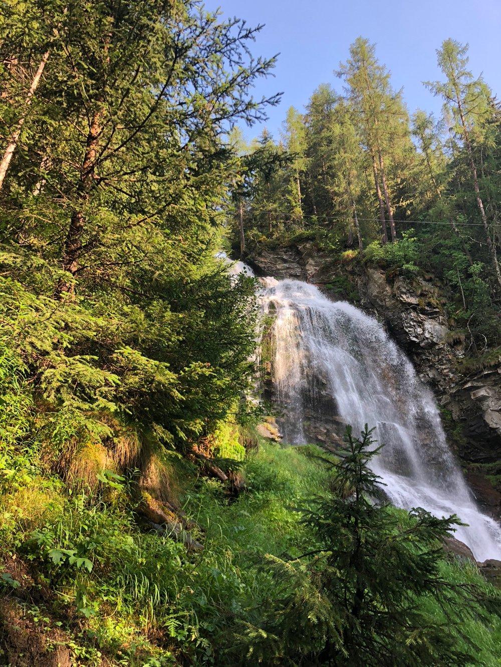 Cascata di Mascognaz, Valle d'Aosta, Italy.
