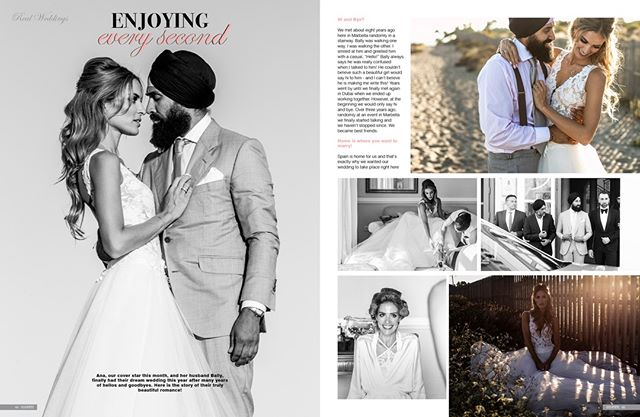 "They knew they loved each other when ""home"" went from being a place to being a person. 💞 Ana & Bally, we wish you a marriage filled with loads of joy, love and care. May your feelings and emotions for each other grow even deeper and stronger with the passing of time. 💫  Would you like your wedding featured in Confeti Magazine?  Contact us: enquiries@iconpublishing.es . . . . .  #weddinginspo #bridal #confetimagazine #marbella #weddingsspain #mr #mrs #bridal #bridetobe #bridalinspiration #wedding #planyourwedding #weddingsday #destinationwedding #morningbride #weddingstyle #flowers@anarosascafe"