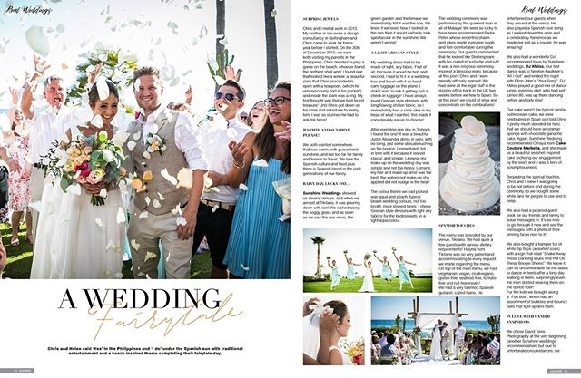 Love is not only something you feel, it's something you do.  Chris & Helen, may your joining together bring you more joy than you can imagine.💖 Would you like your wedding featured in Confeti Magazine?  Contact us: enquiries@iconpublishing.es . . . . .  #weddinginspo #bridal #confetimagazine #marbella #weddingsspain #mr #mrs #bridal #bridetobe #bridalinspiration #wedding #planyourwedding #weddingsday #destinationwedding #morningbride #weddingstyle #flowers