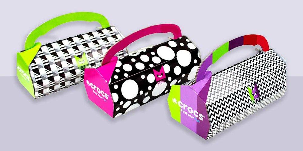 CROCS™ SHOEBOX  Internationally recognized award Winning Packaging