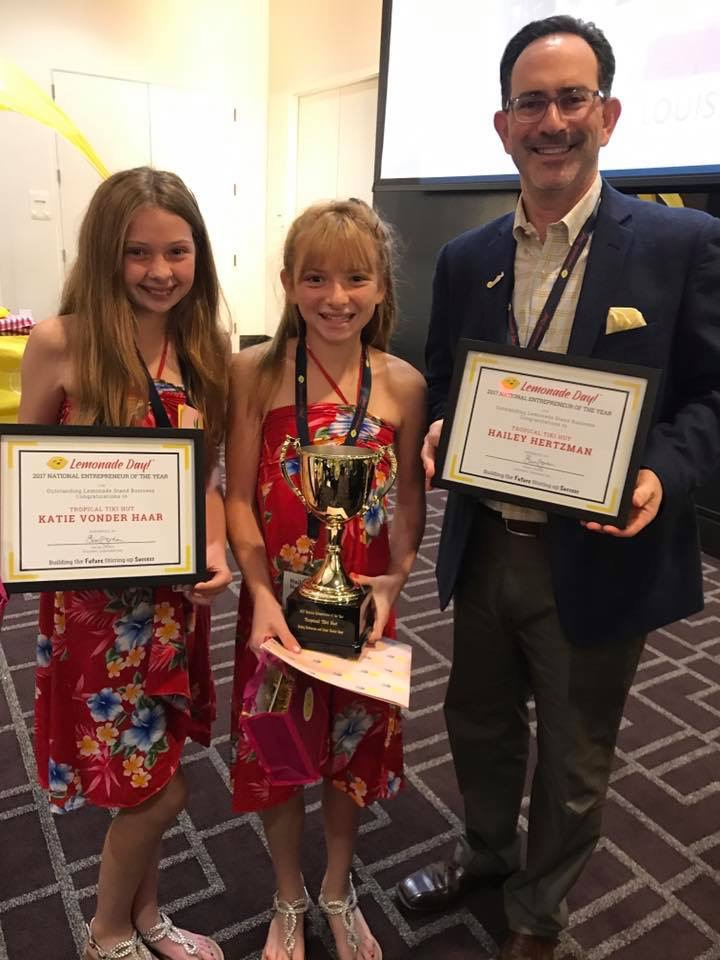 what a day when Katie and Hailey were flown to Houston, Texas to accept Lemonade Day National Entrepeneur of the Year award! Read all about it!