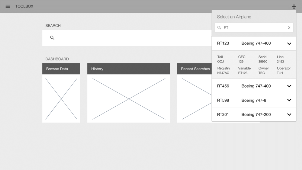 Initial wireframe of this feature