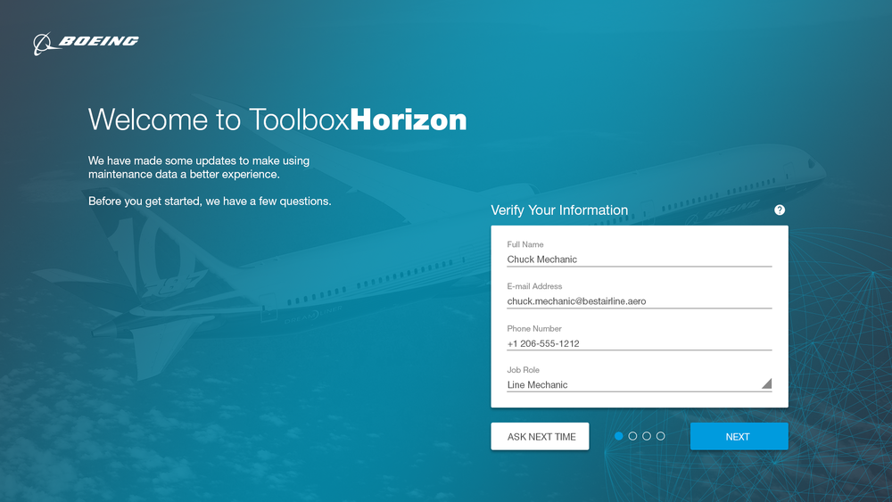 Newly added user onboarding design