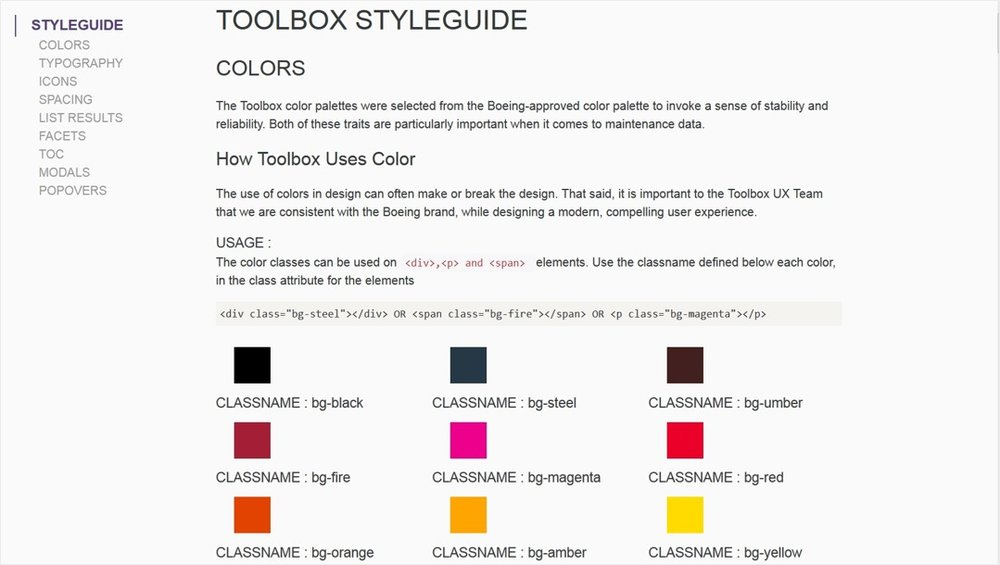 We built an web style guide that was made available for developers