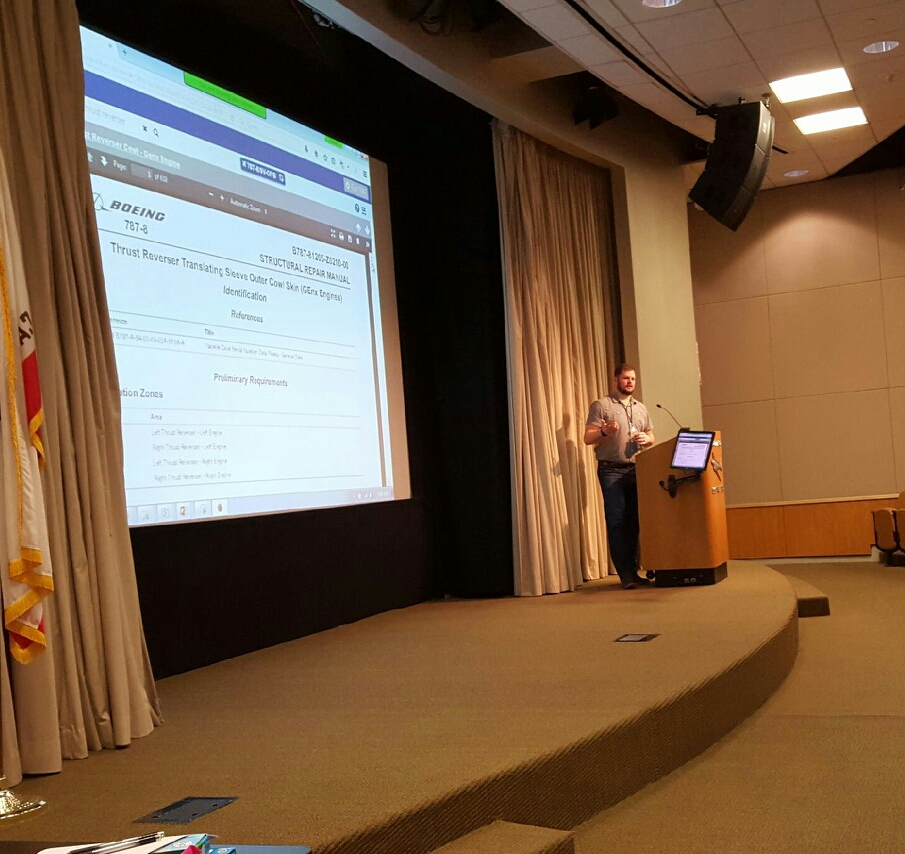 Presenting a prototype design during an internal user workshop in Long Beach, CA