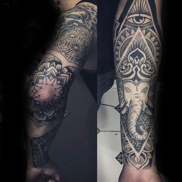 full-sleeve-pattern-floral-male-ganesh-tattoo-design-ideas.jpg