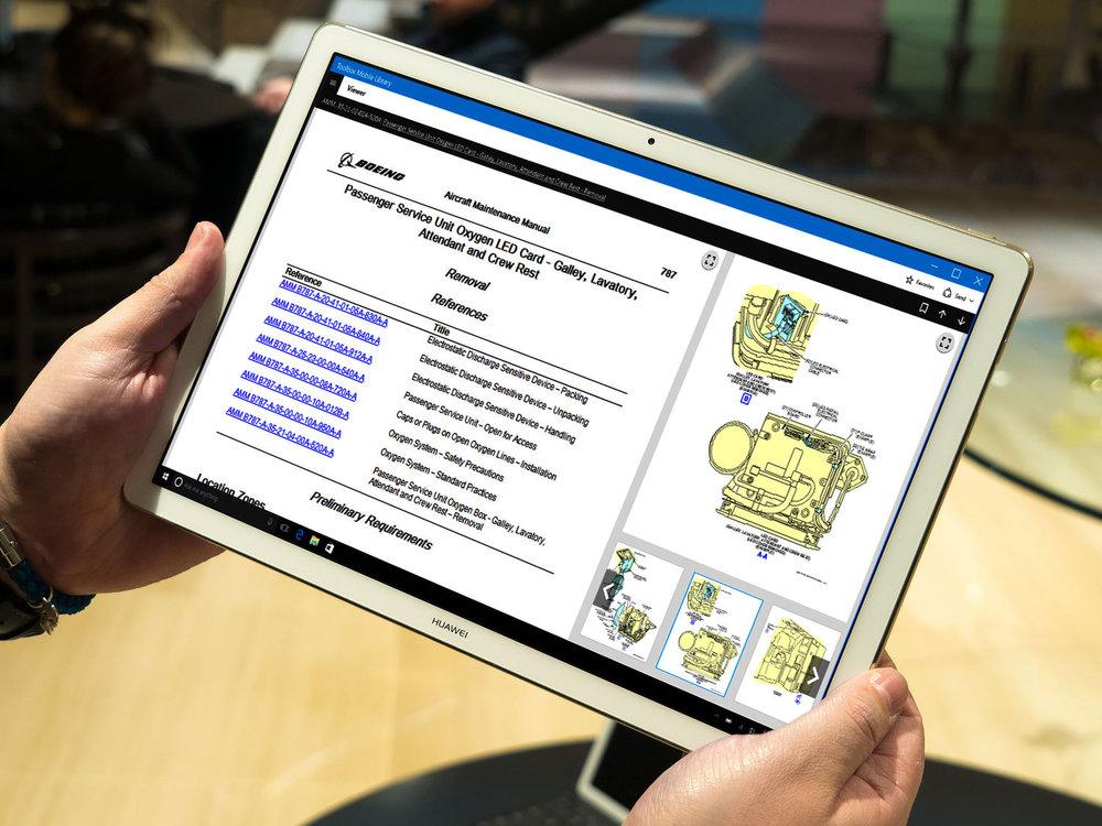 Native Windows 10 tablet design.