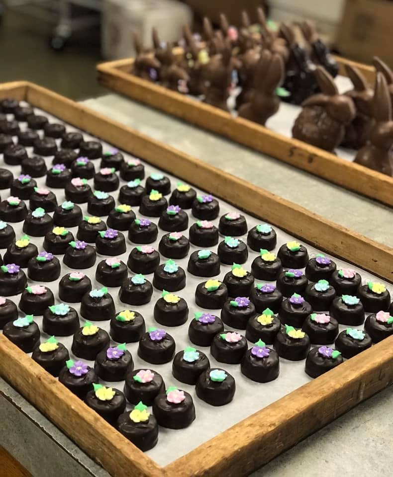 Easter Chocolates from Miesse Candies.
