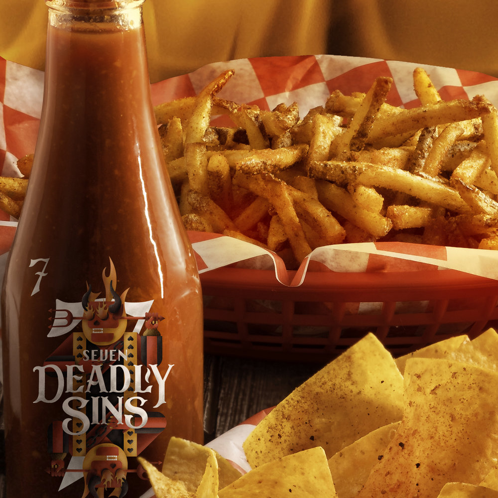 INFERNO FRIES - OUR FAMOUS HAND CUT FRIES WITH A SPICY BLEND OF SEASONINGS