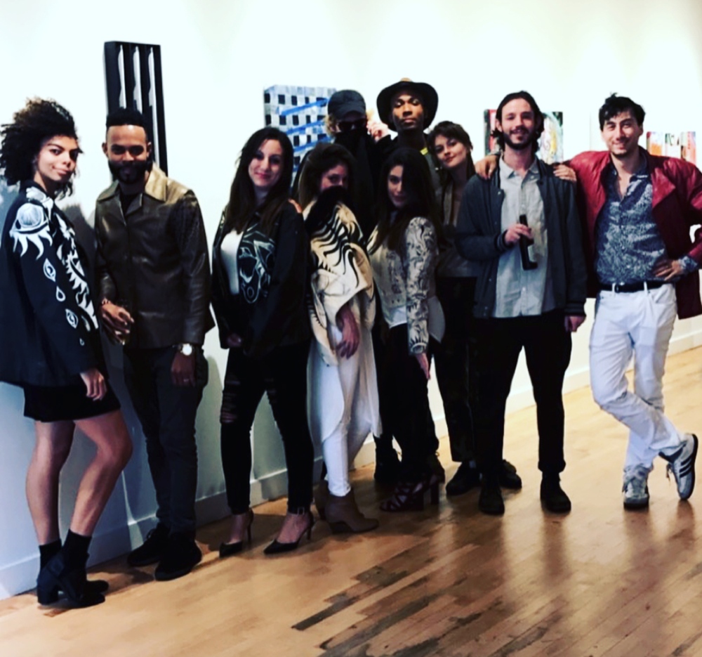 In participation with the city-wide event, JCAST, PRIME Gallery held a fashion show of wearable art by one of the featured Artists, Alana Dee Haynes from  The Base 12 Project . Above are a few of the models donning Alana's hand-painted leather jackets.