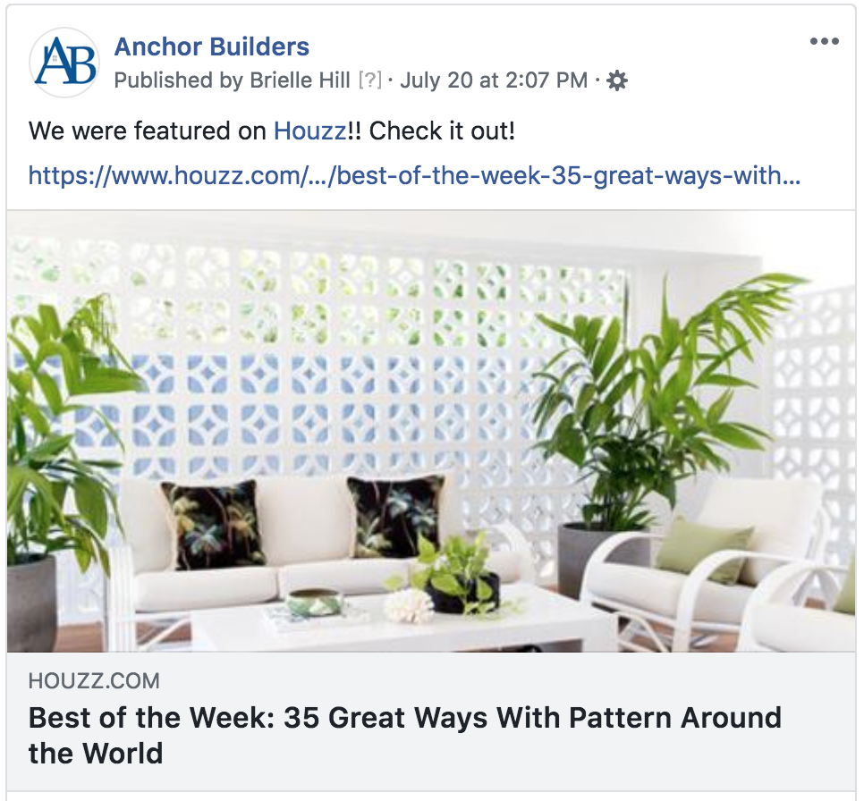 We were featured on  Houzz !