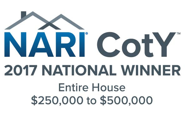 NARI CotY National Award Winner 2017- Entire House $250,000-$500,000