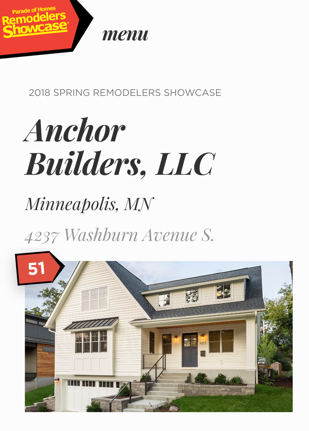 Join us for the 2018 Spring Remodeler's Showcase!