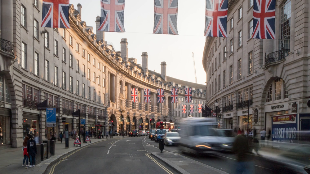 Regent Street, London, where I walked down twice a day to get to work