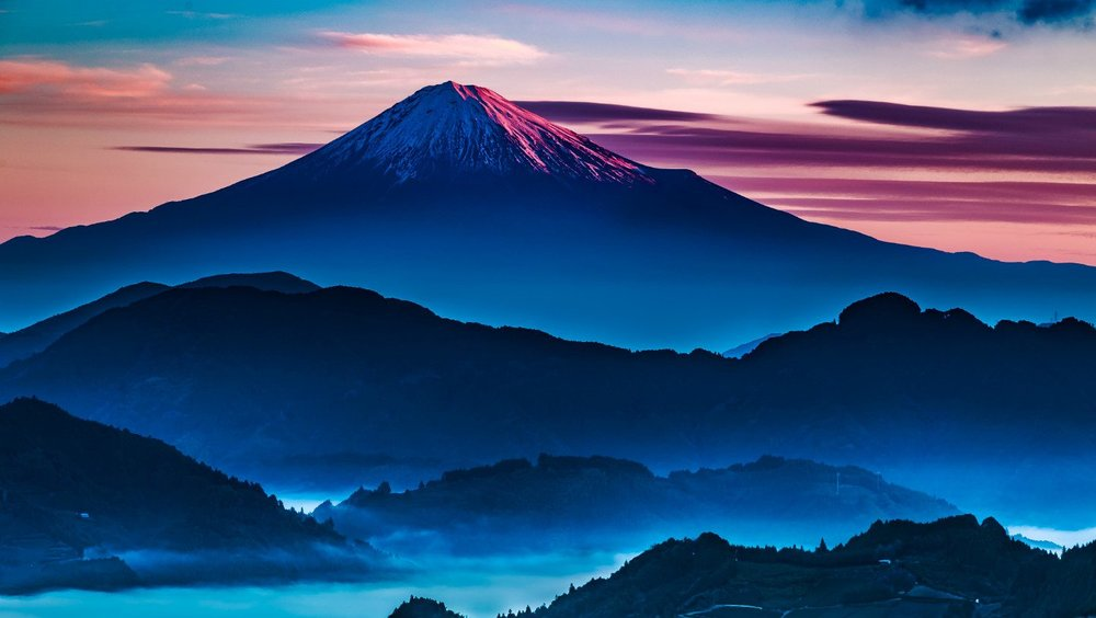 Mt. Fuji peak (3776m), which I climbed during my first spell in Japan.
