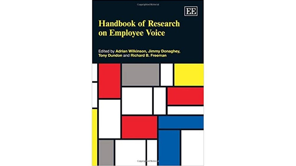 In Jamie's chapter in The Handbook of Research on Employee Voice he introduces the concept of employee voice engagement, which reflects expressing one's true self when speaking up at work. -