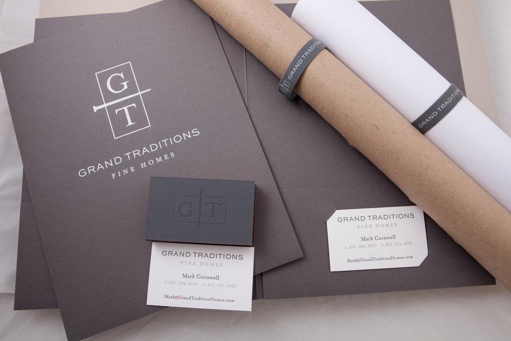 Letterpressed and foil stamped custom folders