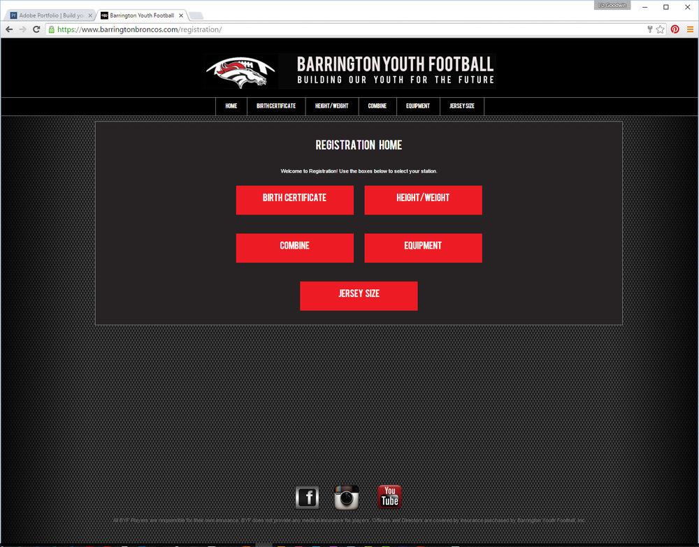 Barrington Youth Football Weigh-In App