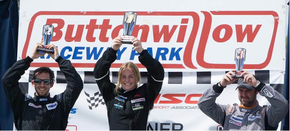 Hannah Grisham on the top step of the podium:
