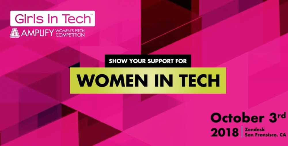 Girls in Tech AMPLIFY Women's Pitch Competition - October 2018 - We are proud and honored to be named the winner of the 2018 AMPLIFY Pitch Competition out of 362 applicants from 46 countries.