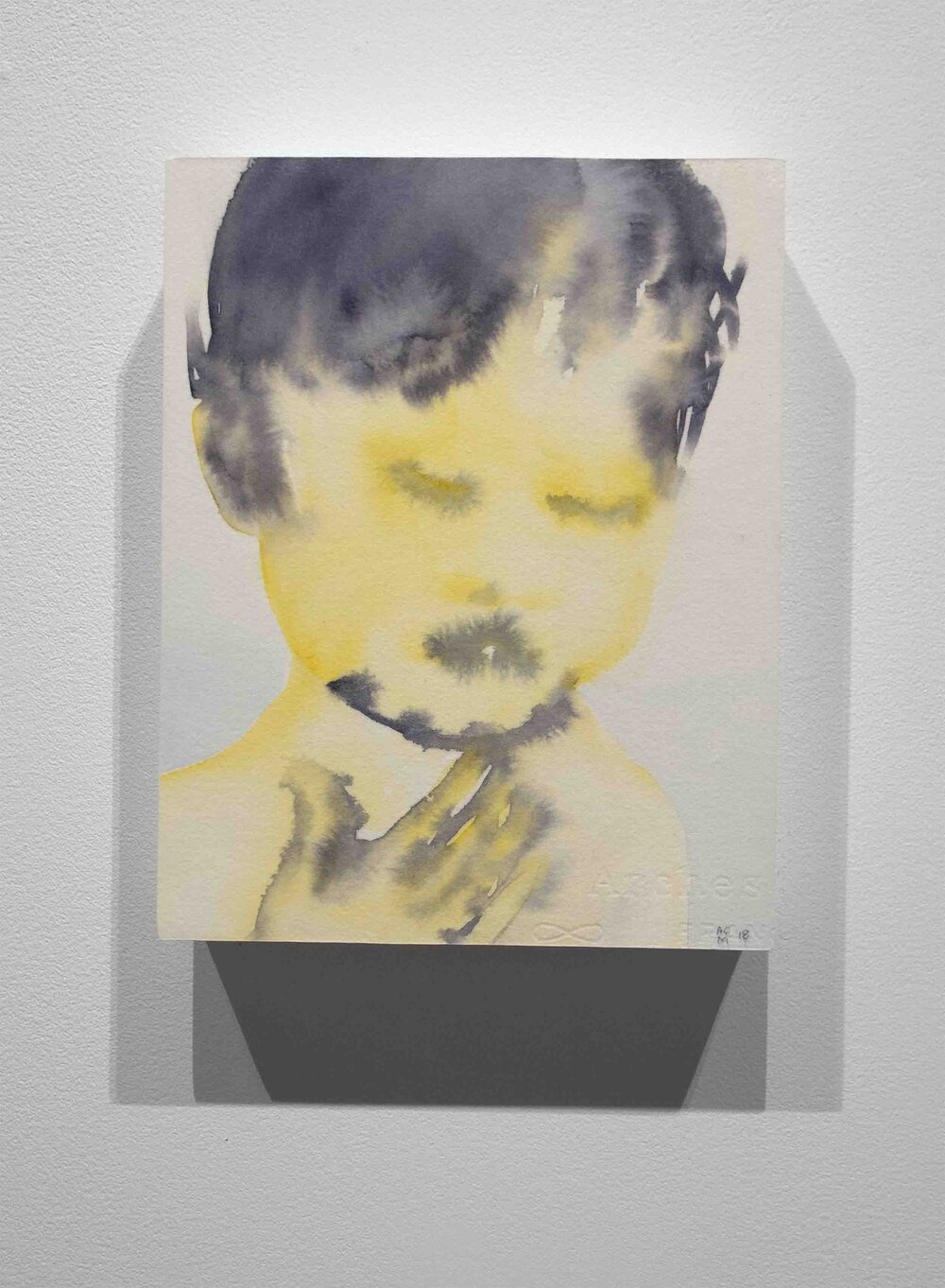 untitled (yellow boy with hand)