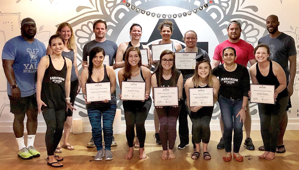 Arrichion Teacher Training Graduates